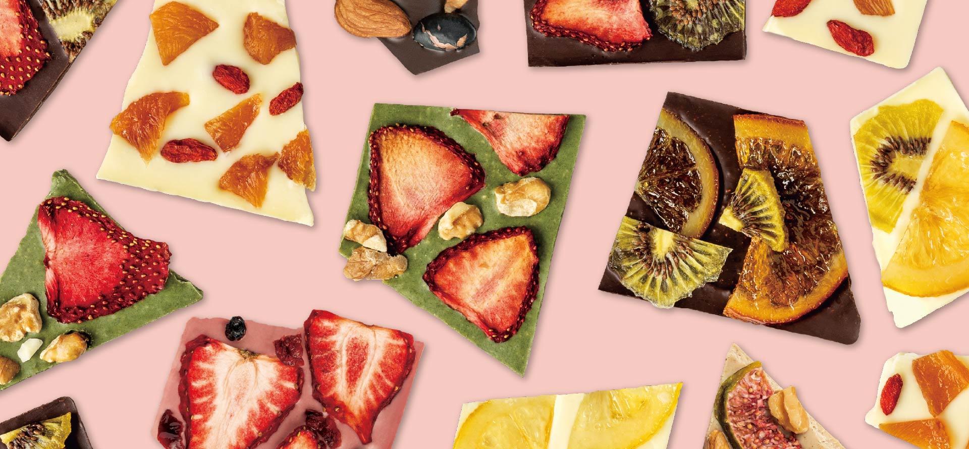 せとうち産のドライフルーツや 岡山産の食材を散りばめた 贅沢ショコラバー「蒜山ショコラ」